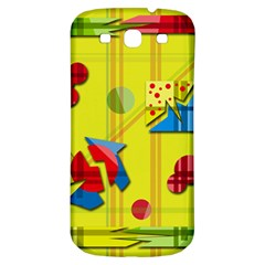 Playful Day   Yellow  Samsung Galaxy S3 S Iii Classic Hardshell Back Case by Valentinaart