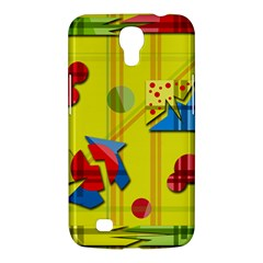 Playful Day   Yellow  Samsung Galaxy Mega 6 3  I9200 Hardshell Case by Valentinaart