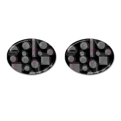 Come Down   Magenta Cufflinks (oval) by Valentinaart