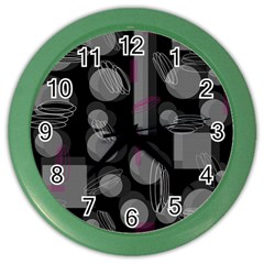 Come Down   Magenta Color Wall Clocks by Valentinaart