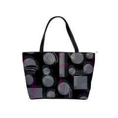 Come Down   Magenta Shoulder Handbags by Valentinaart
