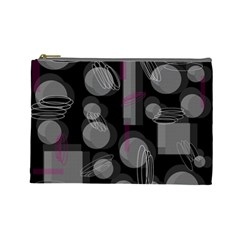 Come Down   Magenta Cosmetic Bag (large)  by Valentinaart