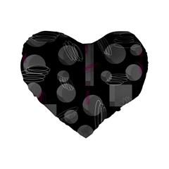 Come Down   Magenta Standard 16  Premium Heart Shape Cushions by Valentinaart