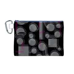 Come Down   Magenta Canvas Cosmetic Bag (m) by Valentinaart