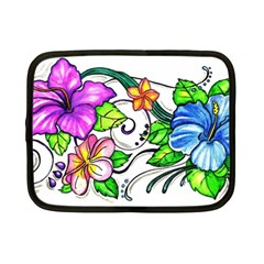 Tropical Hibiscus Flowers Netbook Case (small)  by EverIris