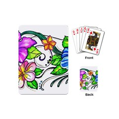 Tropical Hibiscus Flowers Playing Cards (mini)  by EverIris