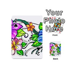 Tropical Hibiscus Flowers Playing Cards 54 (mini)