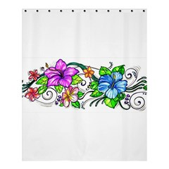 Tropical Hibiscus Flowers Shower Curtain 60  X 72  (medium)  by EverIris