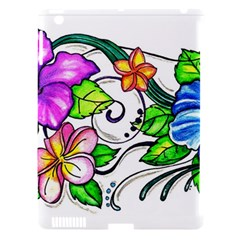 Tropical Hibiscus Flowers Apple Ipad 3/4 Hardshell Case (compatible With Smart Cover) by EverIris