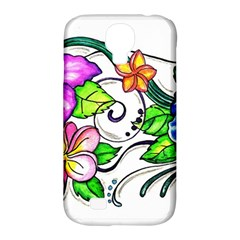 Tropical Hibiscus Flowers Samsung Galaxy S4 Classic Hardshell Case (pc+silicone) by EverIris