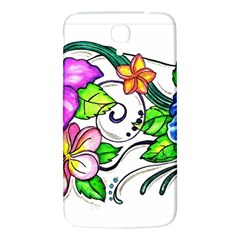 Tropical Hibiscus Flowers Samsung Galaxy Mega I9200 Hardshell Back Case by EverIris