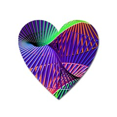 Colorful Rainbow Helix Heart Magnet by designworld65
