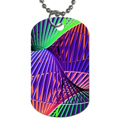 Colorful Rainbow Helix Dog Tag (two Sides) by designworld65