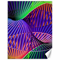 Colorful Rainbow Helix Canvas 12  X 16   by designworld65