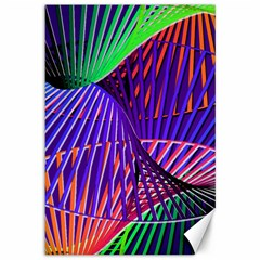 Colorful Rainbow Helix Canvas 12  X 18   by designworld65