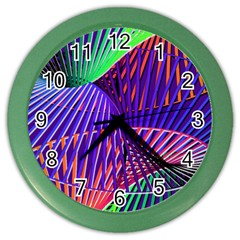 Colorful Rainbow Helix Color Wall Clocks by designworld65
