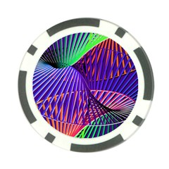 Colorful Rainbow Helix Poker Chip Card Guards by designworld65