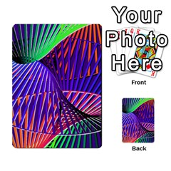 Colorful Rainbow Helix Multi Purpose Cards (rectangle)  by designworld65