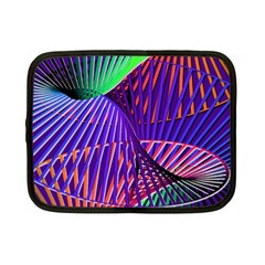 Colorful Rainbow Helix Netbook Case (small)  by designworld65