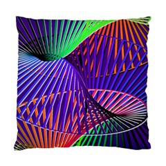 Colorful Rainbow Helix Standard Cushion Case (two Sides) by designworld65