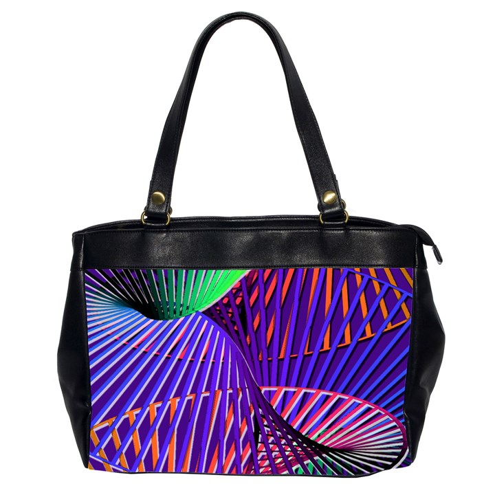 Colorful Rainbow Helix Office Handbags (2 Sides)