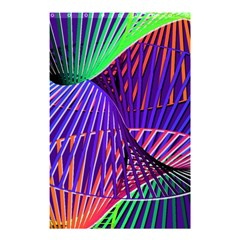 Colorful Rainbow Helix Shower Curtain 48  X 72  (small)  by designworld65