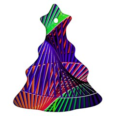 Colorful Rainbow Helix Christmas Tree Ornament (2 Sides) by designworld65