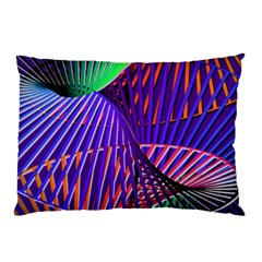 Colorful Rainbow Helix Pillow Case (two Sides) by designworld65