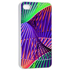 Colorful Rainbow Helix Apple Iphone 4/4s Seamless Case (white) by designworld65