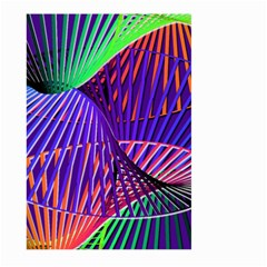 Colorful Rainbow Helix Large Garden Flag (two Sides) by designworld65