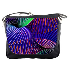 Colorful Rainbow Helix Messenger Bags by designworld65