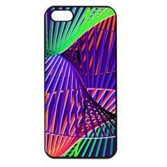 Colorful Rainbow Helix Apple Iphone 5 Seamless Case (black) by designworld65