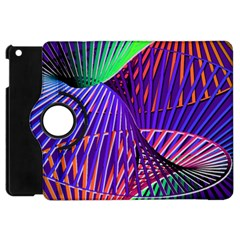 Colorful Rainbow Helix Apple Ipad Mini Flip 360 Case by designworld65