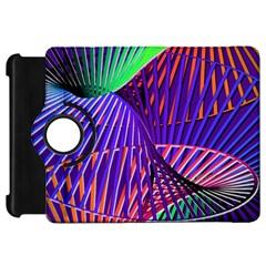 Colorful Rainbow Helix Kindle Fire Hd Flip 360 Case by designworld65