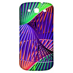 Colorful Rainbow Helix Samsung Galaxy S3 S Iii Classic Hardshell Back Case by designworld65