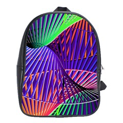 Colorful Rainbow Helix School Bags (xl)  by designworld65