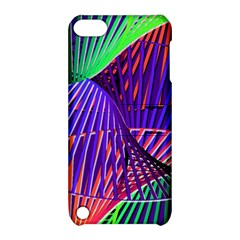 Colorful Rainbow Helix Apple Ipod Touch 5 Hardshell Case With Stand by designworld65