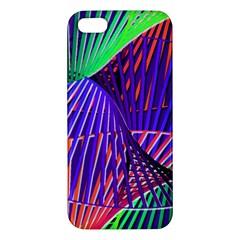 Colorful Rainbow Helix Apple Iphone 5 Premium Hardshell Case by designworld65