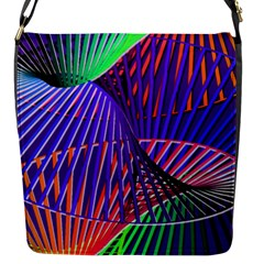 Colorful Rainbow Helix Flap Messenger Bag (s) by designworld65