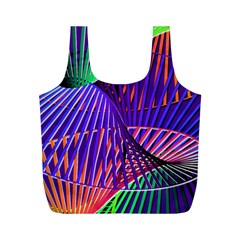 Colorful Rainbow Helix Full Print Recycle Bags (m)  by designworld65