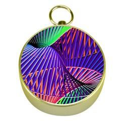 Colorful Rainbow Helix Gold Compasses by designworld65
