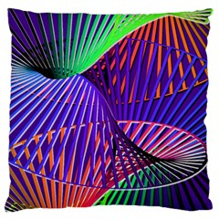 Colorful Rainbow Helix Standard Flano Cushion Case (two Sides) by designworld65
