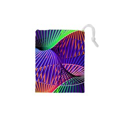 Colorful Rainbow Helix Drawstring Pouches (xs)  by designworld65