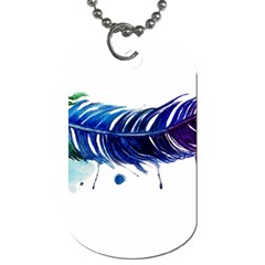 Watery Feather Dog Tag (one Side) by EverIris