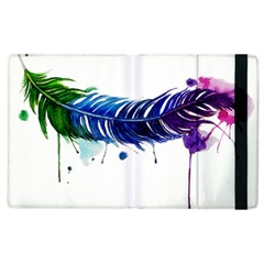 Watery Feather Apple Ipad 2 Flip Case by EverIris