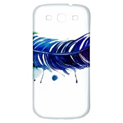 Watery Feather Samsung Galaxy S3 S Iii Classic Hardshell Back Case by EverIris