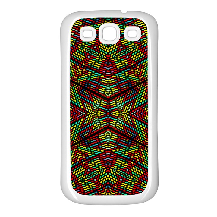 Mandela CHECK Samsung Galaxy S3 Back Case (White)