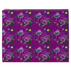 Flower Pattern Cosmetic Bag (XXXL)  by Zeze