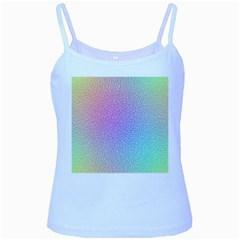 Rainbow Colorful Grid Baby Blue Spaghetti Tank by designworld65
