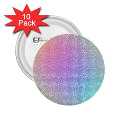 Rainbow Colorful Grid 2.25  Buttons (10 pack)  by designworld65